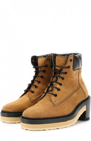 Ботинки из замши на массивной подошве Pierre Hardy. Цвет: коричневый