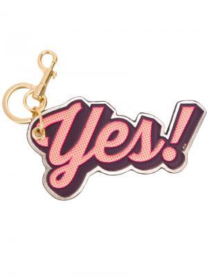 Брелок Yes Anya Hindmarch. Цвет: розовый и фиолетовый