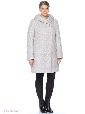 Стеганое пальто Brillare. Цвет: светло-серый