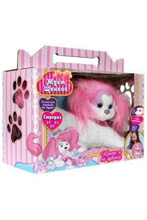 Собачка Рокси и ее щенки Just Play. Цвет: розовый, белый