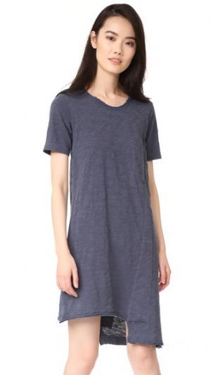 Платье-футболка Shifted с карманом Wilt. Цвет: серо-желтый