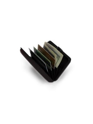 Кошелек алюминиевый, черный МУЛЬТИКАРД BRADEX. Цвет: черный