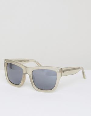 Matthew Williamson Квадратные солнцезащитные очки с зеркальными стеклами Williams. Цвет: серый