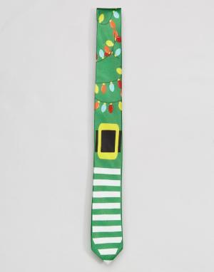 SSDD Новогодний галстук. Цвет: зеленый