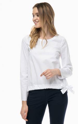 Белая хлопковая блуза с длинными рукавами Marc O'Polo. Цвет: белый