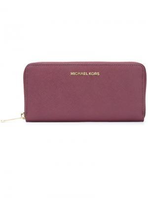 Кошелек на молнии Michael Kors. Цвет: розовый и фиолетовый