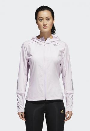 Куртка adidas. Цвет: фиолетовый