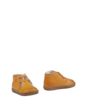 Полусапоги и высокие ботинки FALCOTTO. Цвет: охра