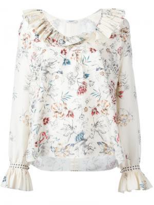 Блузка Skye с цветочным узором Vilshenko. Цвет: телесный