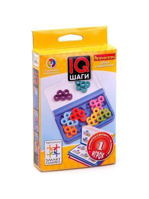 Логическая игра Bondibon IQ-Шаги, арт. SG 499 RU.. Цвет: голубой