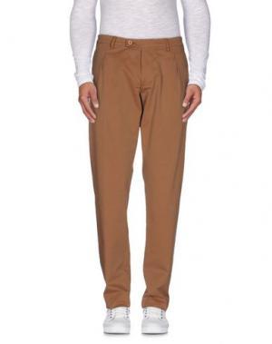 Повседневные брюки BERWICH. Цвет: коричневый