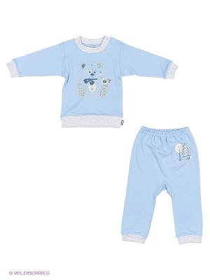 Комплект одежды Лео. Цвет: голубой