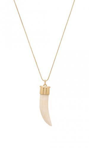 Ожерелье horns of catoblepas House Harlow 1960. Цвет: металлический золотой