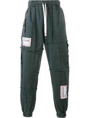 Лоскутные спортивные брюки Liam Hodges. Цвет: серый