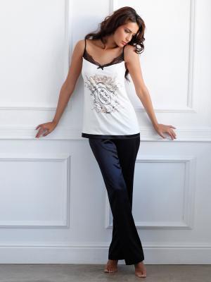 Пижама Laete. Цвет: черный, молочный