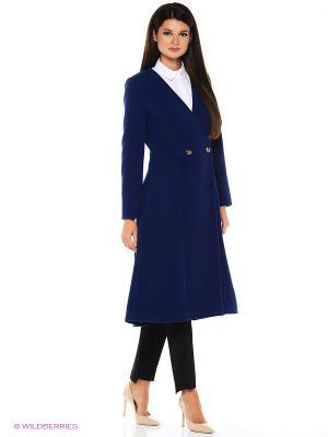 Пальто Travel Blue Katya Erokhina. Цвет: синий