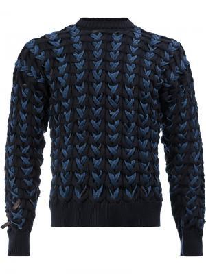 Плетеный джемпер Y / Project. Цвет: синий