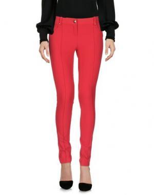 Повседневные брюки BETTY BLUE. Цвет: красный