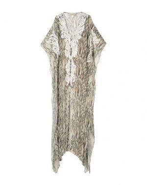 Длинное платье ADRIANA DEGREAS. Цвет: бежевый