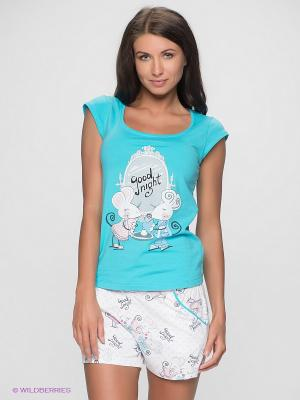 Пижама HAYS. Цвет: бирюзовый
