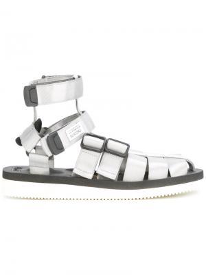 Buckle strap sandals Suicoke. Цвет: серый