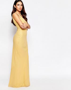 VLabel London Платье макси River. Цвет: золотой