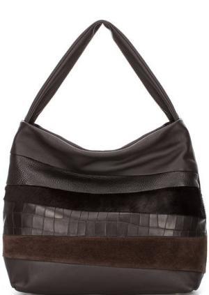 Кожаная сумка с длинной ручкой Roberta Gandolfi. Цвет: коричневый