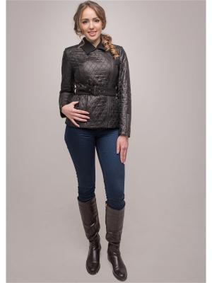 Куртка Лара Versia. Цвет: черный