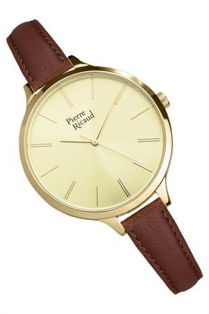 Наручные часы PIERRE RICAUD. Цвет: желтый, коричневый