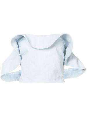 Джинсовая укороченная блузка Apiece Apart. Цвет: синий