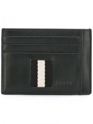 Бумажник с отделкой в полоску Bally. Цвет: чёрный
