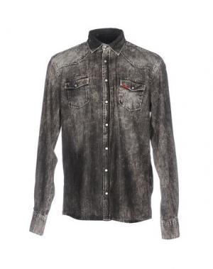 Джинсовая рубашка LIU •JO MAN. Цвет: черный