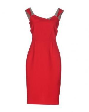 Платье до колена ROLAND MOURET. Цвет: коралловый