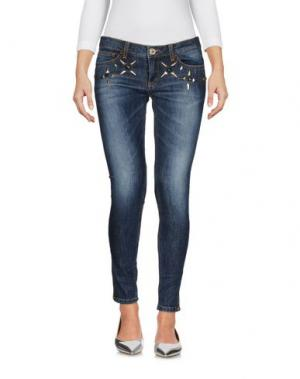 Джинсовые брюки GLAM CRISTINAEFFE. Цвет: синий
