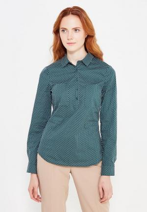 Рубашка oodji. Цвет: зеленый