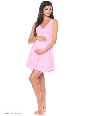 Сорочка женская для беременных и кормящих Hunny Mammy. Цвет: розовый