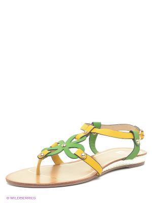 Сандалии Calipso. Цвет: желтый, зеленый
