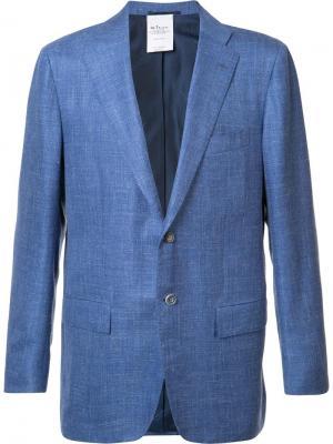 Пиджак с клапанами на карманах Kiton. Цвет: синий