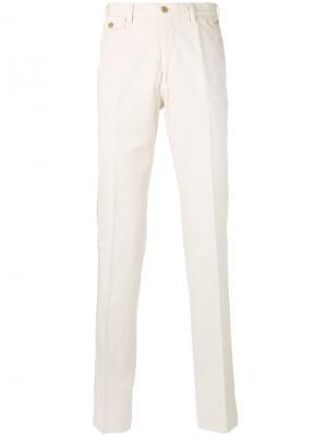 Классические брюки чинос Salvatore Ferragamo. Цвет: телесный
