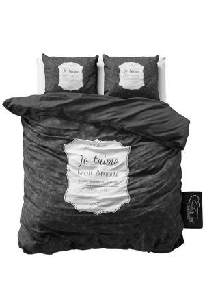 Комплект постельного белья Евро Sleeptime. Цвет: серый