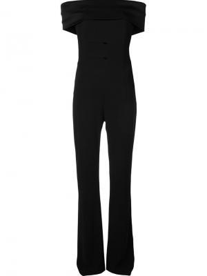 Off the shoulder jumpsuit Galvan. Цвет: чёрный