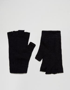 ASOS Перчатки без пальцев. Цвет: черный
