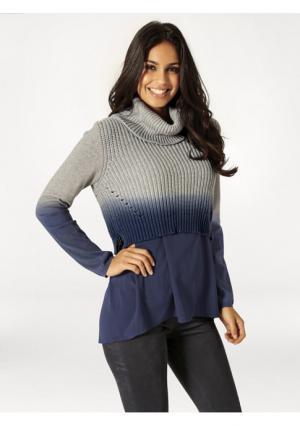 Пуловер 2 в 1 Rick Cardona. Цвет: серый меланжевый