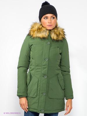 Куртка Broadway. Цвет: зеленый