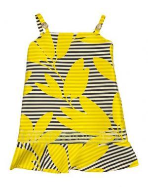 Платье VERSACE YOUNG. Цвет: желтый