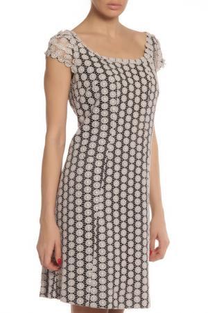Платье Maria Grazia Severi. Цвет: черный, бежевое ришелье