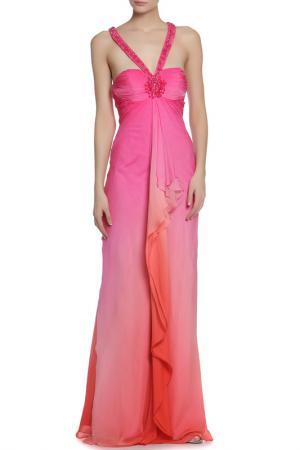 Платье Clips. Цвет: фуксия, оранжевый