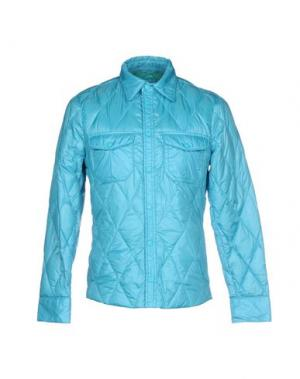 Пуховик BPD BE PROUD OF THIS DRESS. Цвет: небесно-голубой