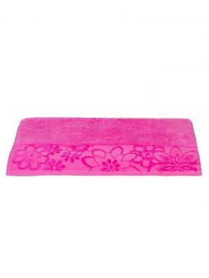 Махровое полотенце 70x140 DORA т. розовое,100% хлопок HOBBY HOME COLLECTION. Цвет: розовый