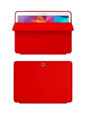 Чехол-книжка Tim для Samsung Galaxy Tab 4 10.1. Красный With Love. Moscow. Цвет: красный